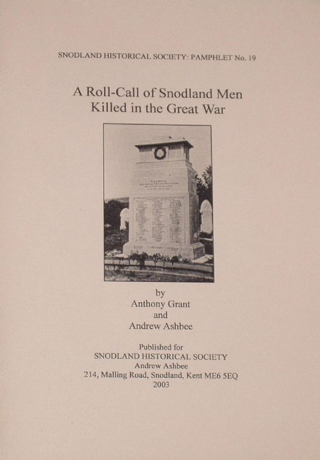 A Roll-Call of Snodland Men Killed in the Great War